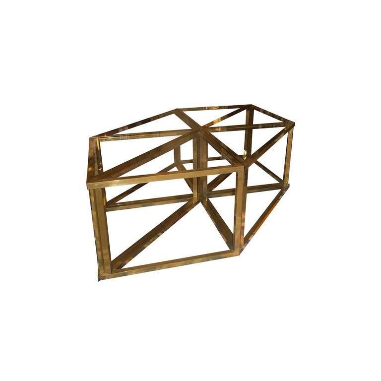 Beautiful Romeo Rega modular table, composed in six parts from which you can derive up three square table.