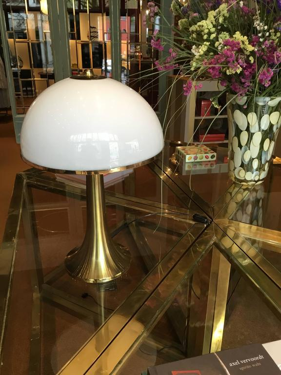 Romeo Rega Modular Table, 1970s, Brass and Crystal For Sale 3