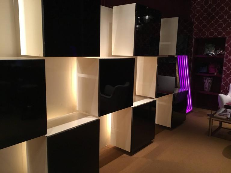 Illuminated Wall Unit Designed By Roberto Monsani For Acerbis 3