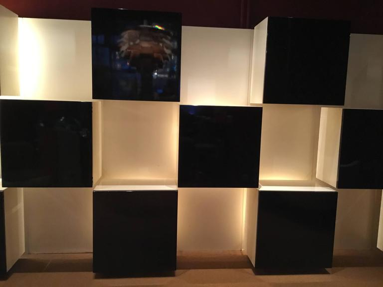 Illuminated Wall Unit Designed By Roberto Monsani For Acerbis 2