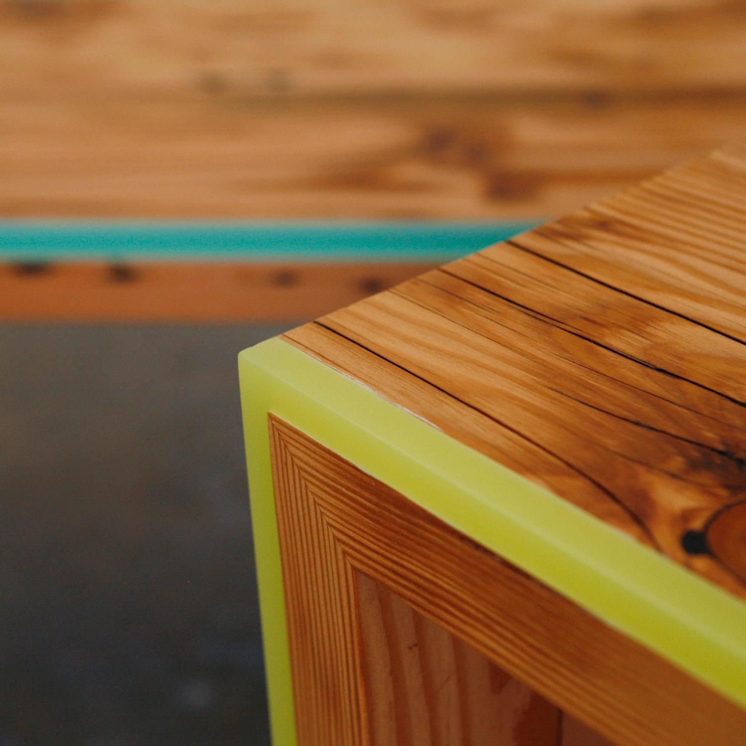 Monster Island Side Table or Stool in Reclaimed Fir, Edged ...