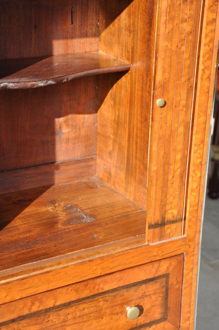 Th century walnut cabinet with top in gray marble