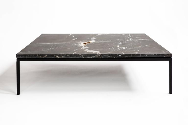 FOUND Coffee Table In Black Marble And Black Steel 2