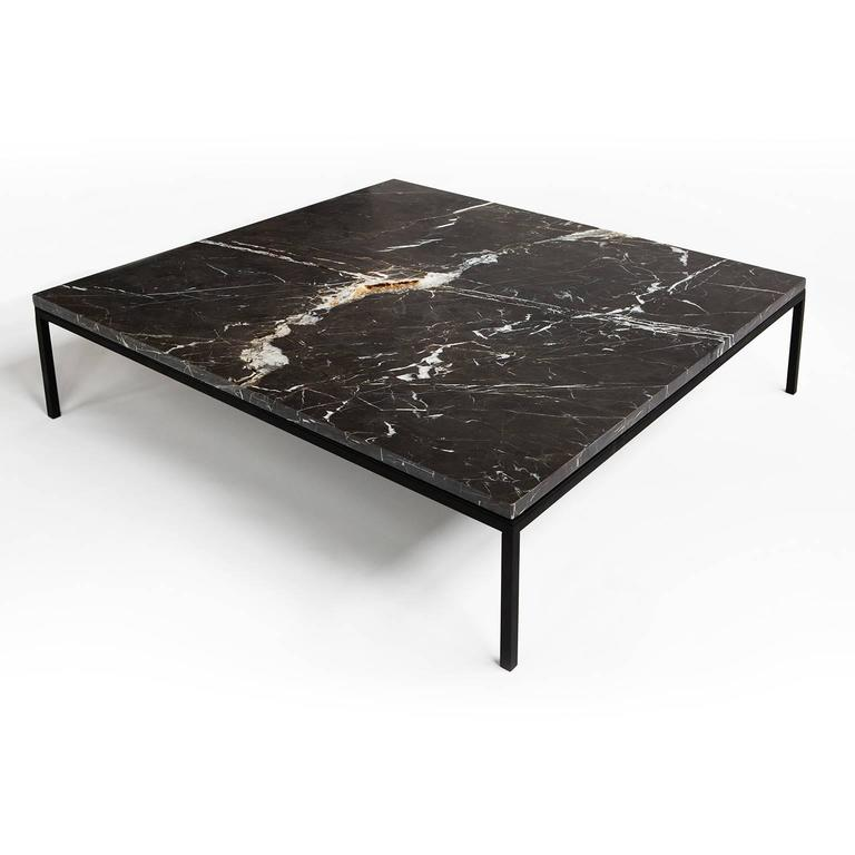 Marble Coffee Table Hk: FOUND Coffee Table In Black Marble And Black Steel At 1stdibs