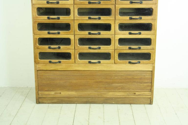 Vintage Oak Midcentury 30-Drawer Haberdashery Cabinet Shop Display ...