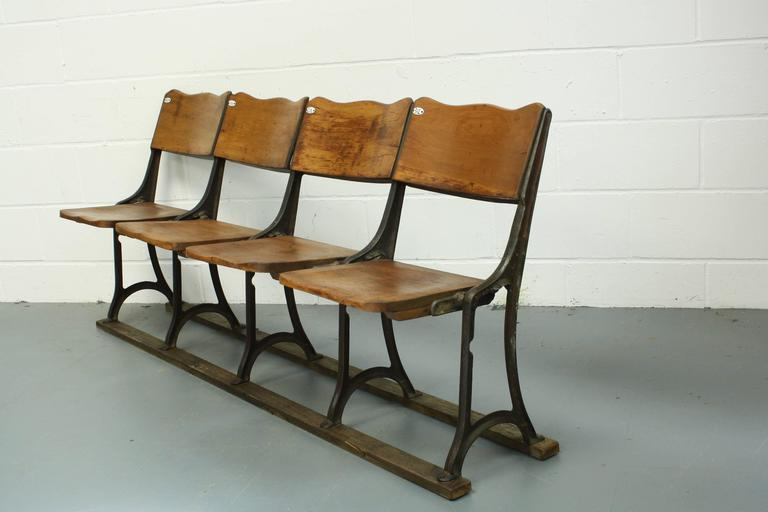 Astonishing Victorian Edwardian Folding Wooden Theatre Seats For Sale Caraccident5 Cool Chair Designs And Ideas Caraccident5Info