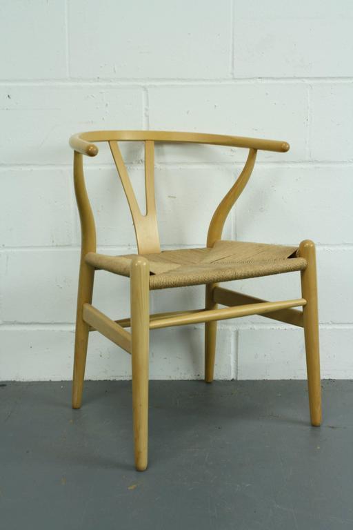 vintage hans wegner wishbone y chair in ash for sale at 1stdibs