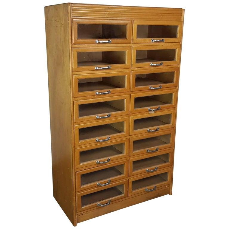 Vintage Midcentury British Haberdashery Cabinet
