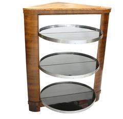 Art Deco Bar Cabinet with Revolving Door