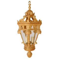 Buster Keaton Gilt Wooden Lantern