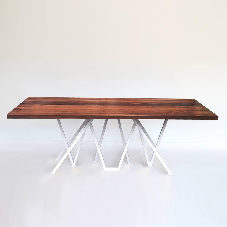 Metal Contemporary Walnut