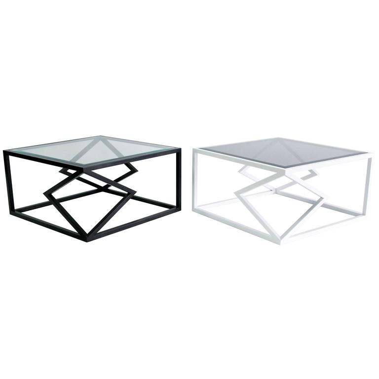"""The """"Two Diamonds"""" cocktail table is from the 2016 collection of Alex Drew & No One. Inspired by traditional craftsmanship while incorporating a modern edge, AD&NO's work plays on light, textures, and form.  Each piece is handcrafted by Alex"""