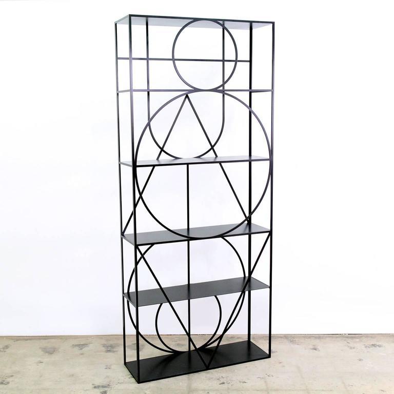 Modern Contemporary Black Steel