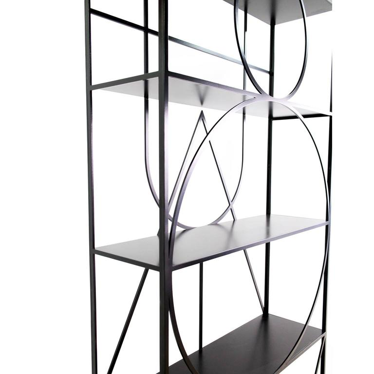 Powder-Coated Contemporary Black Steel