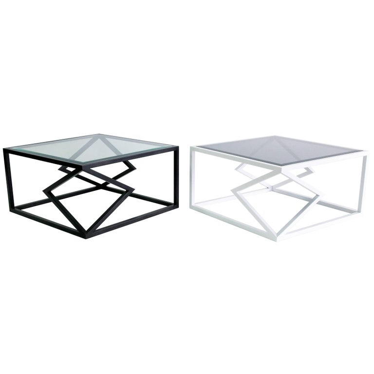 "The ""Two Diamonds"" cocktail table is from the 2016 collection of Alex Drew and no one. Inspired by traditional craftsmanship while incorporating a modern edge, AD&NO's work plays on light, textures, and form.