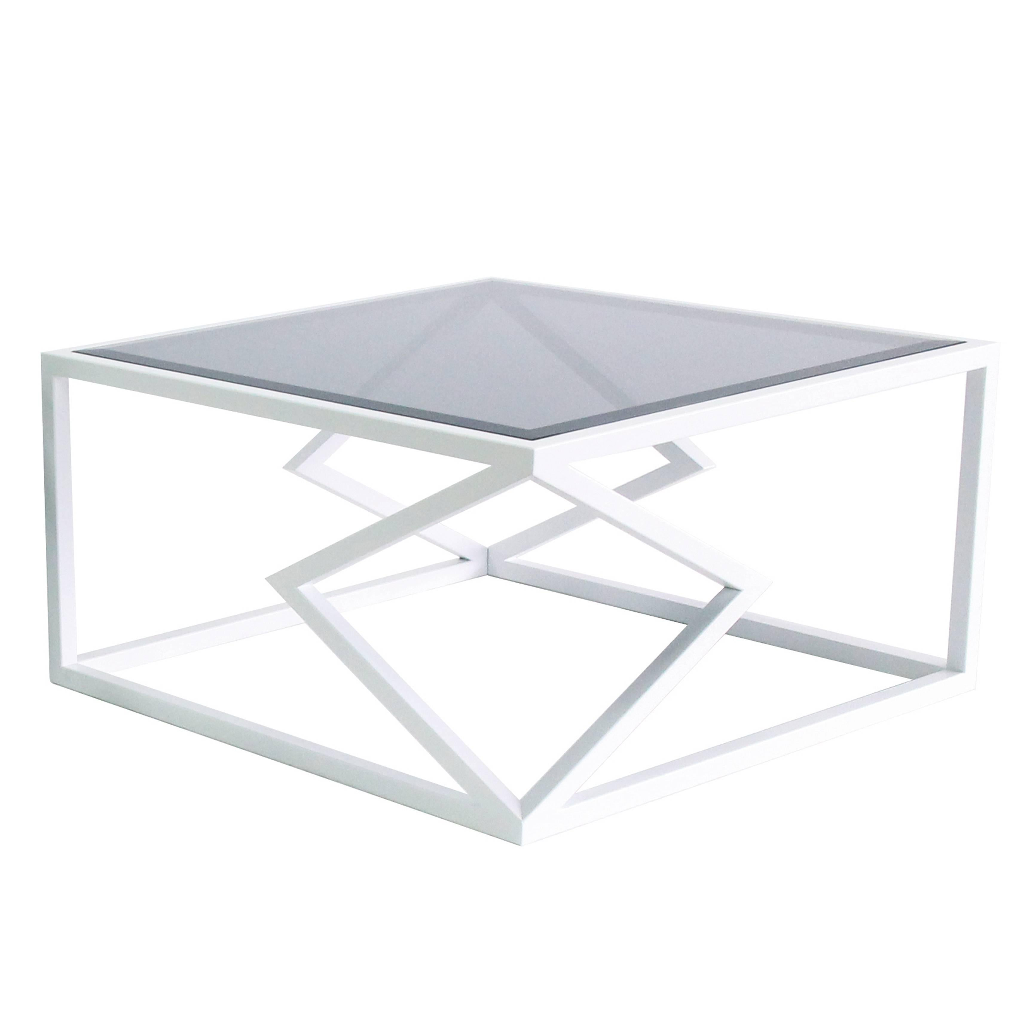 """Contemporary Steel """"Two Diamonds"""" Cocktail Table by Alex Drew & No One, 2016"""