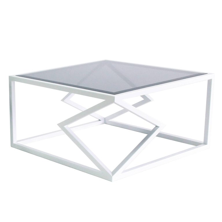 "Contemporary Steel ""Two Diamonds"" Cocktail Table by Alex Drew & No One, 2016 For Sale"