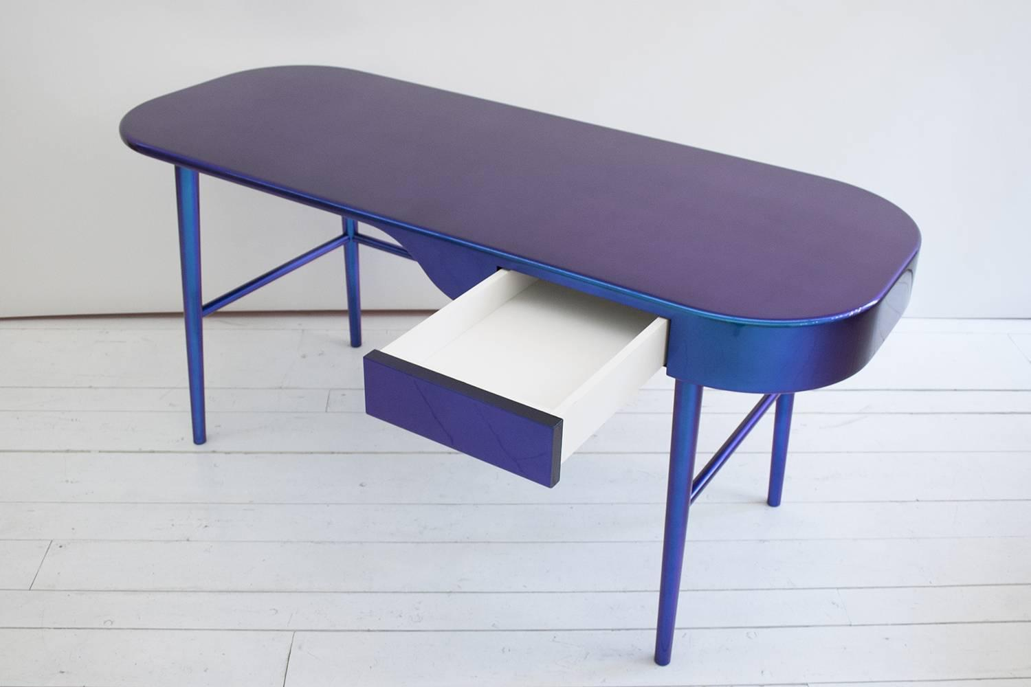 Celine writing desk laquered with chameleon paint by for Cramer furniture
