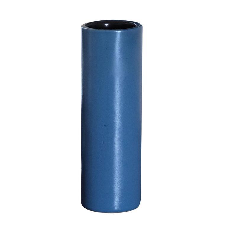 Georges Jouve Blue Cylinder Vase, circa 1960