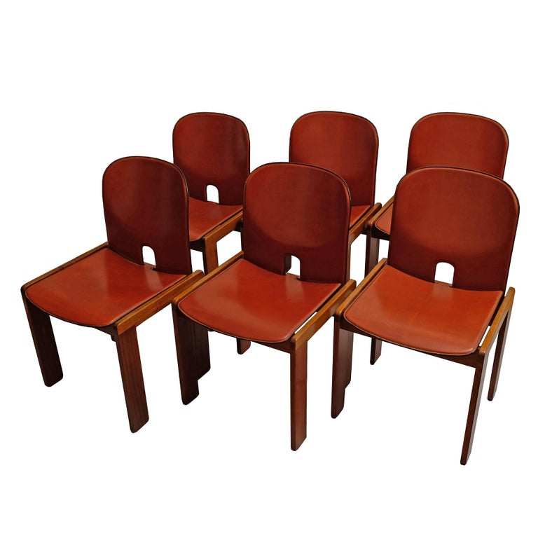 Afra & Tobia Scarpa, a Set of Six Chairs, Model 121, Cassina, 1960s For Sale