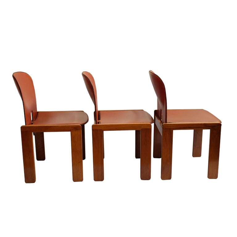 Afra & Tobia Scarpa, a Set of Six Chairs, Model 121, Cassina, 1960s In Good Condition For Sale In Paris, FR