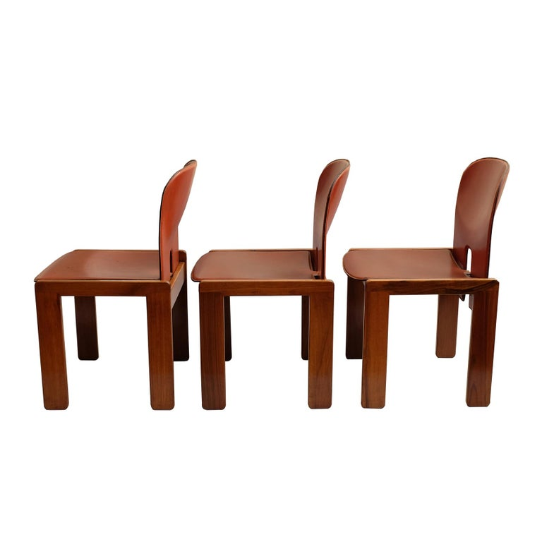 Mid-20th Century Afra & Tobia Scarpa, a Set of Six Chairs, Model 121, Cassina, 1960s For Sale