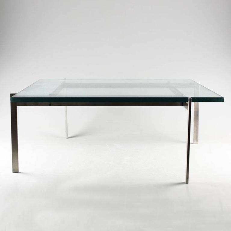 Scandinavian Modern Poul Kjaerholm PK61 Coffee Table, 20th Century For Sale