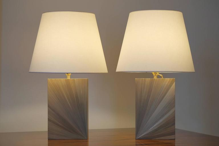 Straw Marquetry Table Lamps At 1stdibs