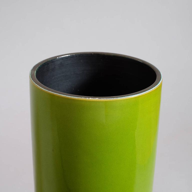 "Georges Jouve, a Great ""Cylinder"" Vase, circa 1960 4"