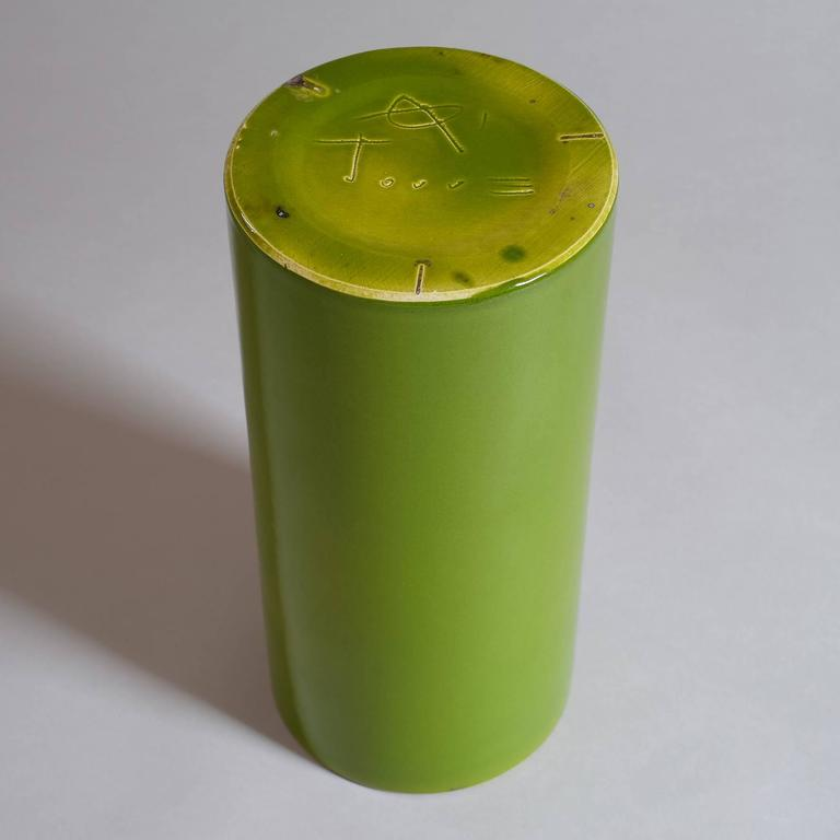 "Georges Jouve, a Great ""Cylinder"" Vase, circa 1960 7"