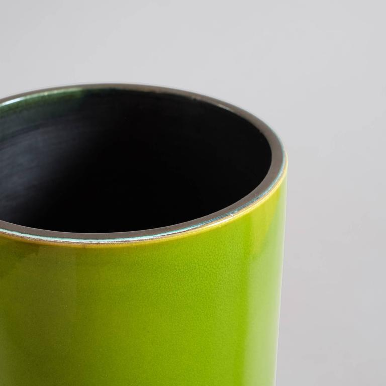"Georges Jouve, a Great ""Cylinder"" Vase, circa 1960 8"