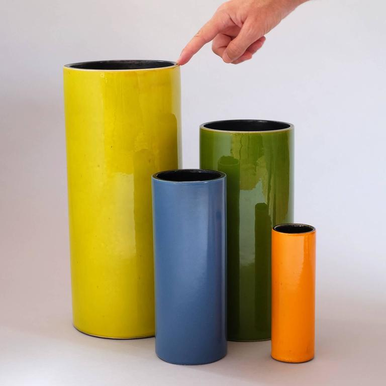 """Georges Jouve, a Rare Great """"Cylinder"""" Vase, circa 1960 9"""