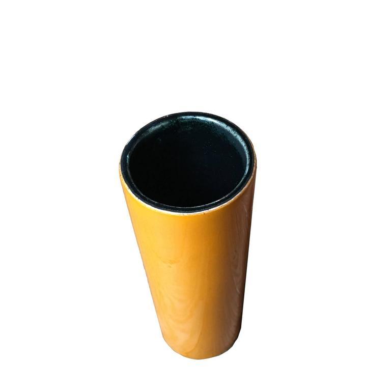 "Georges Jouve, an Orange ""Cylinder"" Vase, circa 1960 4"