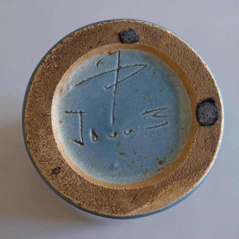 Georges Jouve, a Blue Cylinder Vase, circa 1960 4