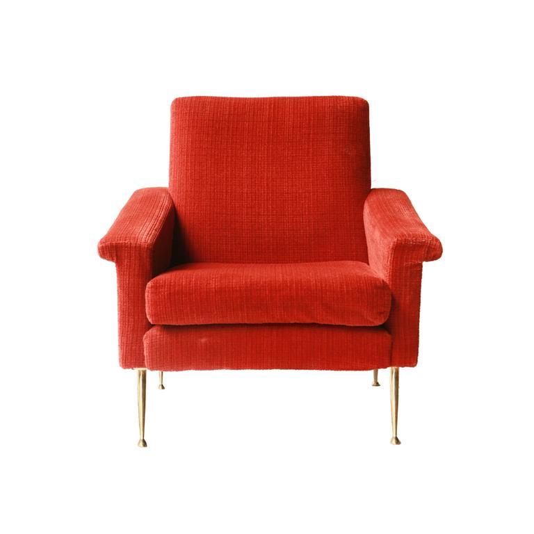 Italian armchair with original upholstery for sale at 1stdibs - Butaca orejera ...