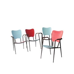 Set of Four Chairs Designed by Doro Cundo, Italy, 1980