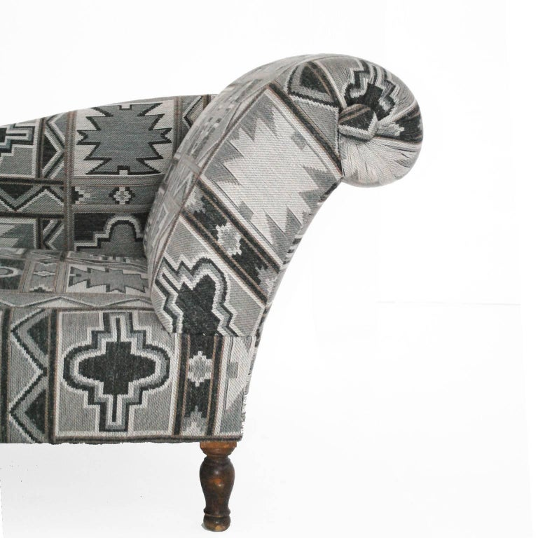 Chaise longue with geometric print france 1940 at 1stdibs for Chaise francaise