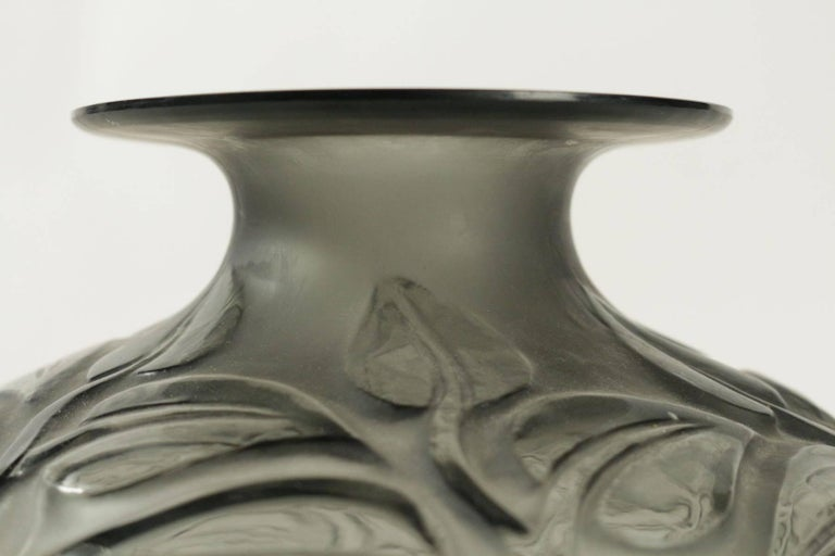 René Lalique Grey Vase