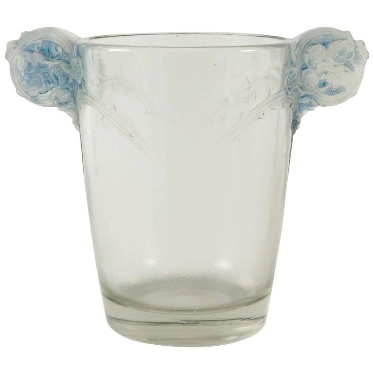 """René Lalique """"Chamarande"""" Glass Vase"""