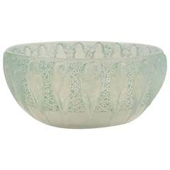 """René Lalique Opalescent """"Perruches"""" Bowl"""