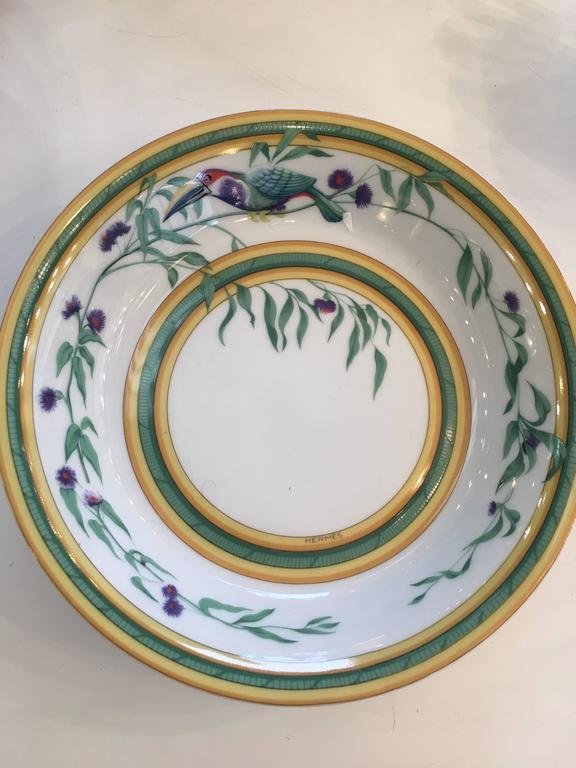 Hermes Quot Toucan Quot Porcelain Dinnerware Service At 1stdibs