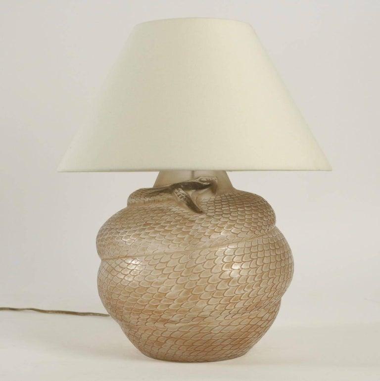 French René Lalique Vase Lamp Serpent