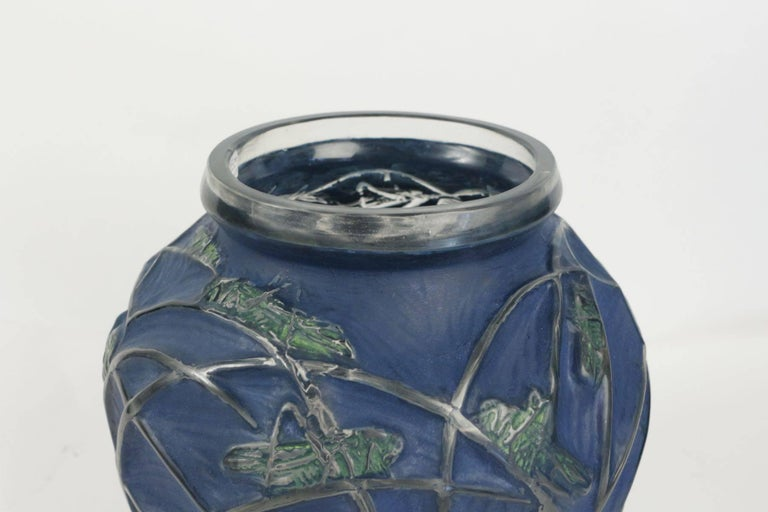 Rene Lalique vase Sauterelles,