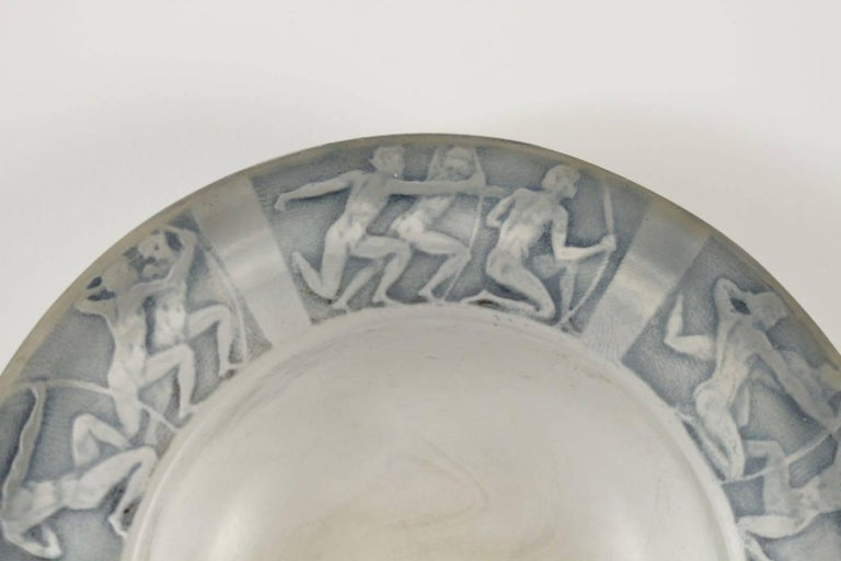 "Art Deco René Lalique Cendrier ""Archers"" Ashtray For Sale"