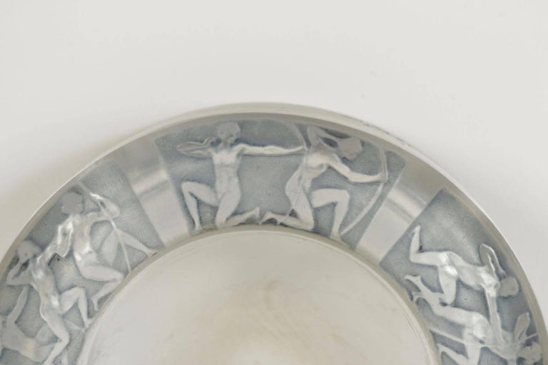 "French René Lalique Cendrier ""Archers"" Ashtray For Sale"