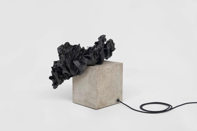 British Contemporary Study in Permanence II Table Lamp, Jamesplumb in Concrete and Lead For Sale