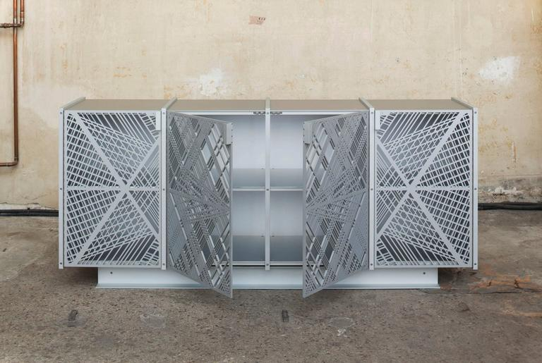 Cabinet made of anodised aluminium by German designer Tina Roeder.