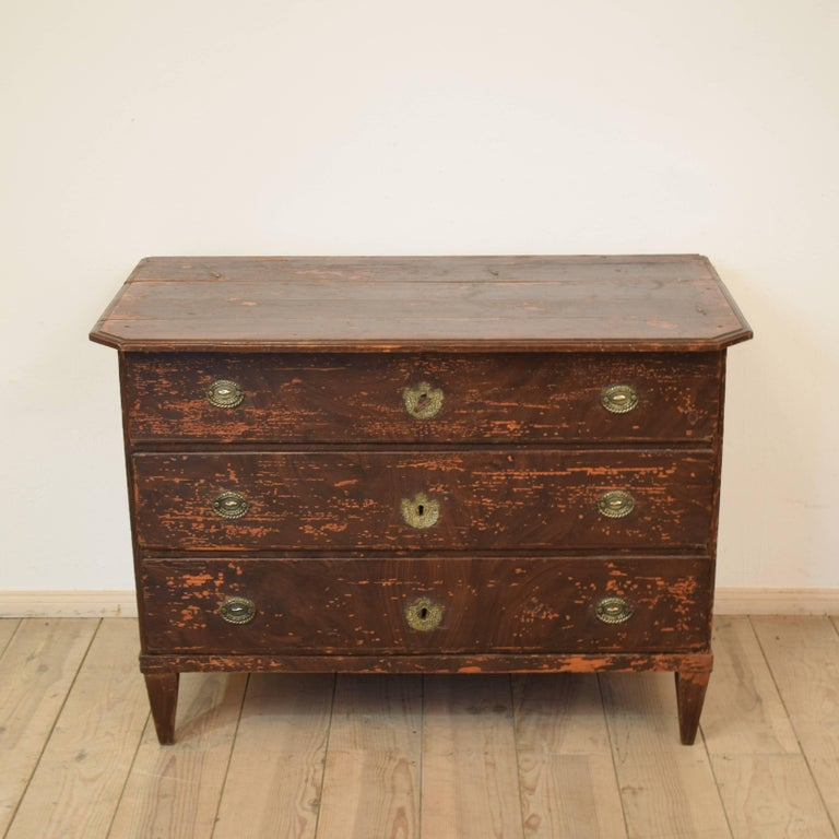 German 19th Century Biedermeier / Gustavian Chest of Drawers For Sale