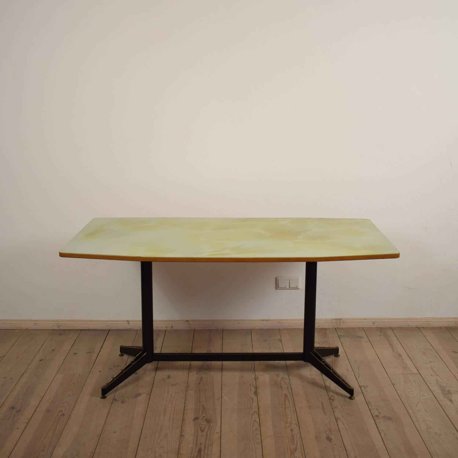 Mid century italian glass top dining table 1950s for sale for Most beautiful dining room tables