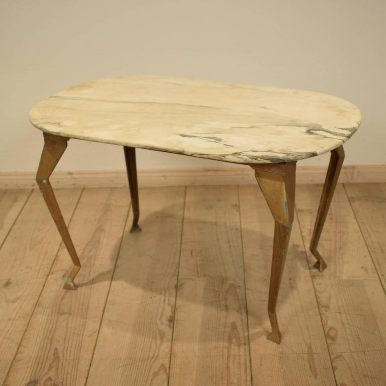 Mid Century Italian Marble Top Coffee Table 1970s At 1stdibs